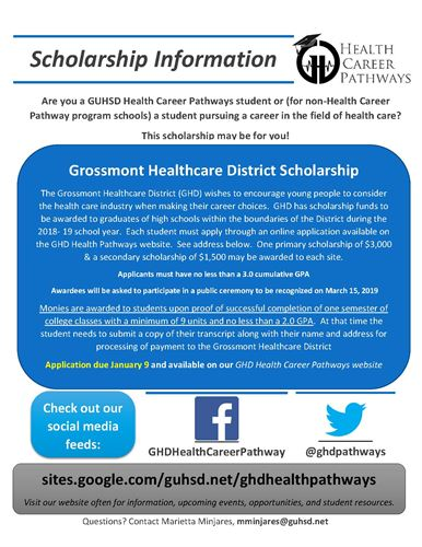GHD Scholarship Poster