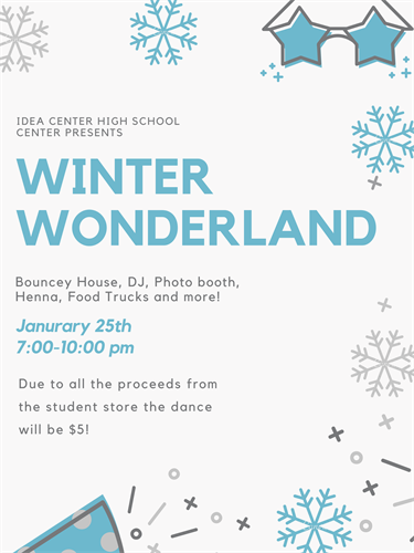 ASB announcement for winter dance.